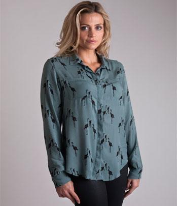 Cassie Shirt - Flamingo