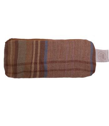 Make-up bag. Linen check