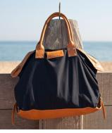 New - *in-stock soon* Black leather canvas bag