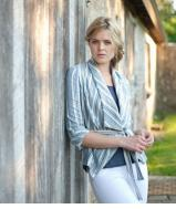 Parker Jacket - Linen Stripe - was £45.00