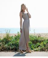 Sarah Midi Dress - Putty
