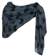Scarf - blue peacock print